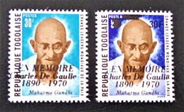 SURCHARGES  GENERAL DE GAULLE 1971 - NEUFS ** - YT 696/97 - MI 839/40 - Togo (1960-...)