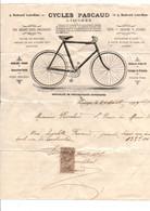 FACTURE CYCLES PASCAUD à LIMOGES 1909 - 1900 – 1949