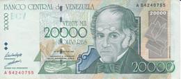 BILLETE DE VENEZUELA DE 20000 BOLIVARES DEL AÑO 1998  (BANK NOTE) - Venezuela