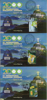 Brazil 2000 Complete Series 3 Maximum CardSustainable Development Geology Gemstones International Congress Geoscience - Other