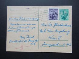 Österreich 1956 Verwendet 1961 Trachten GA Ortsverkehr Mit Zusatzfrankatur Mödling - Wien V - 1945-60 Brieven