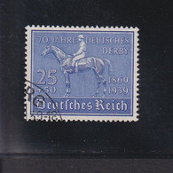 RAL2 /  Deutsches Reich  698  Pferde Deutsches Derby Hamburg / Rundstempel - Usados
