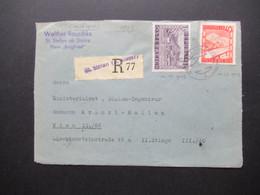 Österreich 1945 / 48 Einschreiben Briefstück Not R-Zettel Gestempelt St. Stefan Ob Stainz Absender Haus Burgfired - 1945-60 Brieven