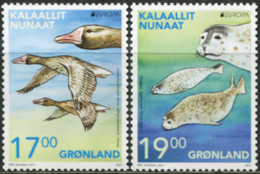 GREENLAND 2021 Europa CEPT Endangered Species Geese Birds Seals Animals Fauna MNH - Geese