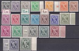 All. Besetzung Bizone 1945 - Mi.Nr. 16 - 35 - Postfrisch MNH - Mit Randstücken - Amerikaanse-en Britse Zone