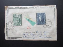 Österreich 1955 / 56 Nr. 1022 UNO  Und Nr. 1024 Mozart Wien Einschreiben Briefstück - 1945-60 Brieven