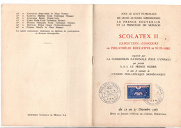 MONACO EXPO SCOLATEX II PHILATELIE EDUCATIVE 1963 - Postmarks