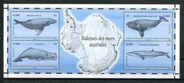TAAF 2011 Bloc N° 25 ** ( 587/590 ) Neuf MNH Superbe C 8,80 € Faune Marine Baleines Cachalot Rorqual Animaux - Unused Stamps
