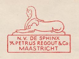 Meter Cover Netherlands 1961 Sphinx - Lion - Maastricht - Egyptology