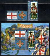 Gibraltar 2003 Mi# 1042-1044, Block 55 ** MNH - Martyrdom Of St. George, 1700th Anniv. - Gibilterra