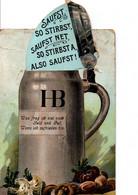 AUFGABEORT.  KGL.HOFBRAUHAUS MUNCHEN. CPA Se Dépliant.  HB. A Circulé En 1908. Voir  3 SCANS - Werbepostkarten