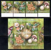 Gibraltar 2003 Mi# 1054-1057, Block 57 ** MNH - Mushrooms - Gibilterra