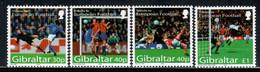 Gibraltar 2004 Mi# 1083-1086 ** MNH - European Soccer - Gibilterra