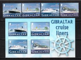 Gibraltar 2005 Mi# 1133-1136, Block 67 ** MNH - Cruise Ships (I) - Gibilterra
