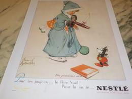 ANCIENNE PUBLICITE UN PRECIEUX AVIS   LAIT SUCRE NESTLE 1936 - Posters