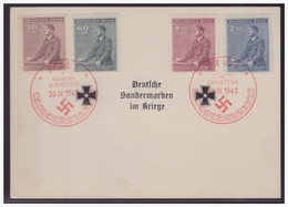 Dt.- Reich (004235) Propagandakarte Deutsche Sondermarken Im Kriege Mit SST Geburtstag Des Führers 20.4.1942 - Storia Postale