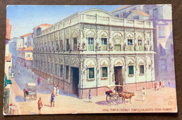 BOMBAY - HINDU TEMPLE (MONKEY TEMPLE)KALBADEVI ROAD -  POST CARD(odette)  TO MILANO  - 6/12/1919 - Monde