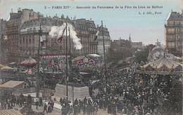 PARIS - 14ème Arrond -  Souvenir Du Panorama De La Fête Du Lion De Belfort - Distretto: 14