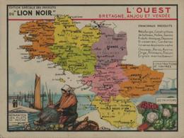 Lion Noir - L'Ouest - Bretagne, Anjou Et Vendée - Werbepostkarten