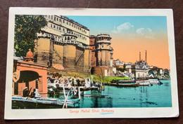INDIA - BENARES  GANGA MAHAL GHAT  - POST CARD FROM  LANDOUR 24/6/13  TO TURIN - ITALY - Monde