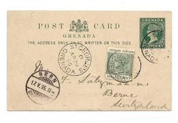 GRENADA E.P. Carte Postal Stationery Card ½p. Green On Light-cream + Tp ½p. Green, CancelledSt-GEORGES GRENADA AP.29 18 - Grenada (...-1974)