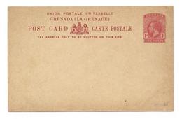 GRENADA E.P. Carte Postal Stationery Card 1p.red On Cream, Mint- Very Fresh.  Belle Fraîcheur. TB - W1080 - Grenada (...-1974)