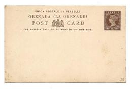 GRENADA E.P. Carte Postal Stationery Card 1½p.brown On Cream, Mint- Very Fresh.  Belle Fraîcheur. TB - W1081 - Grenada (...-1974)