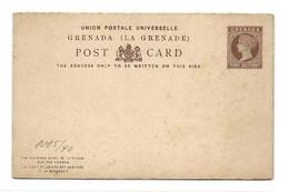 GRENADA E.P. Carte Postal Stationery Reply Card 1½p. + 1½p. Brown On Cream, Mint- Very Fresh.  Belle Fraîcheur. TB - - Grenada (...-1974)