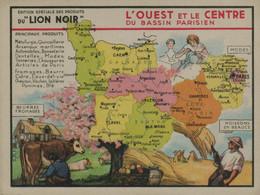 Lion Noir - L'Ouest Et Le Centre Du Bassin Parisien - Werbepostkarten