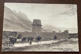 PAKISTAN - RETURNING  CARAVAN KHYBER PASS   - POST CARD(holmes) FROM PESHAWAR 11/5/1934 - XII TO ROMA ITALY - Monde