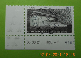 FRANCE 2021  PAVILLON  FRANCE  EXPO  2020  DUBAI  Timbre  Neuf   Cachet   ROND  DATE - Used Stamps