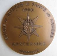 Médaille Ecole Santé De La Marine Santé Navale Des Armées , Centenaire 1890 – 1990 Bordeaux - Autres