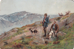 1901-1907; Hunters, Enereth Abel, Christiania, AXEL ENDER - Autres Illustrateurs