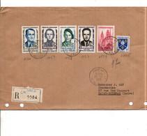 AFFRANCHISSEMENT COMPOSE SUR LETTRE RECOMMANDEE DE PARIS 41 1958 - 1921-1960: Modern Period