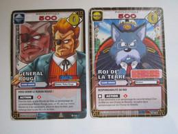 2 Cartes Dragon Ball 497 ROI DE LA TERRE - 12 GENERAL ROUGE - Dragonball Z