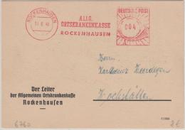 FZ-Rheinl.Pfalz - Rockenhausen 1949 4 Pfg. AFS AOK Drucksache N. Hochstätten - French Zone