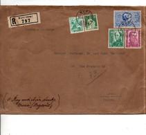 SUISSE 1937 AFFRANCHISSEMENT COMPOSE SUR LETTRE RECOMMANDEE CHARGEE DE MURI POUR LA FRANCE - Cartas