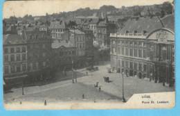 Liège-écrite En 1907-La Place Saint-Lambert-exp.--> Herverlé (Louvain)-Edit.AHH-LG - Liege