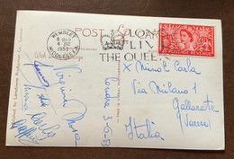 """INCORONAZIONE DI ELISABETTA II - """"LONG LIVE THE QUEEN"""" WEMBLEY MIDDLESEX  3/6/53  - POST CARD TO GALLARATE - ITALY - Monde"""