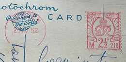 INGHILTERRA - LONDON THE IMBARCAMENT - POST CARD ANNULLO  ROSSO A TARGHETTA  DEL 23 IV 52  TO GENOVA ITALY - Monde