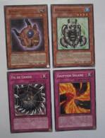 4 Cartes Yu-Gi-Oh Konami FIL DE CHASSE FR071 - PANDABORG FR031 - SUPAY FR023 - ERUPTION SOLAIRE FR067 - Yu-Gi-Oh