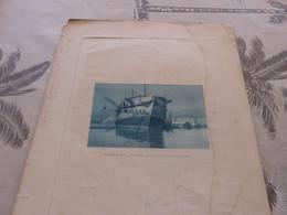 373 - Gravure , Arsenal De Toulon, MONTENARD , Le Vieux Ponton, Navire - Boats