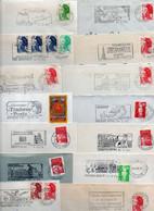 Lot De 50 Lettres Pour Flammes Sur Enveloppe Complète - FRANCE - Possibilité De Réduire La Dimension De La Flamme - Annullamenti Meccanici (pubblicitari)