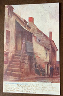 INGHILTERRA - SAINT IVES  AN OUTSIDE STAIRCASE  -  POST CARD  TO LONDON  1903 - Monde