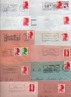 Lot De 50 Lettres Pour Flammes Sur Enveloppe Complète - REGION CENTRE - Possibilité De Réduire La Dimension De La Flamme - Annullamenti Meccanici (pubblicitari)