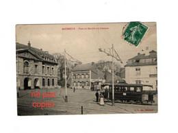 59- MAUBEUGE - Place Du Marché Aux CHEVAUX - TRAMWAY-restaurant L'ESTAMINET URBIN-Ecrite-Timbrée. - Maubeuge