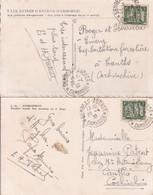 Cambodge 2 Cpa Oblitérées De SIEMREAP ANGKOR En 1938 Pour Cantho En Cochinchine Indochine - Briefe U. Dokumente