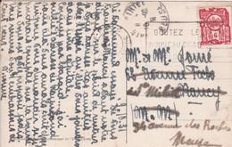 Cambodge Carte Photo D'Angkor Voyagée En 1931 Avec Cachet Flamme Indochinoise Indochine Cambodia - Briefe U. Dokumente