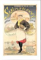 CPA-Repro-Affiche 1895-PUBLICITE-CHEMINS DE FER De L ETAT-SABLES D OLONNE Fete De 1895-Edit ADDC-TB - Werbepostkarten