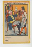 PUBLICITÉ - Jolie PUB Pour CHICOREE LA SANS RIVALE Avec Calendrier 1913 Et FABLES DE LA FONTAINE (7 Pages) - Werbepostkarten